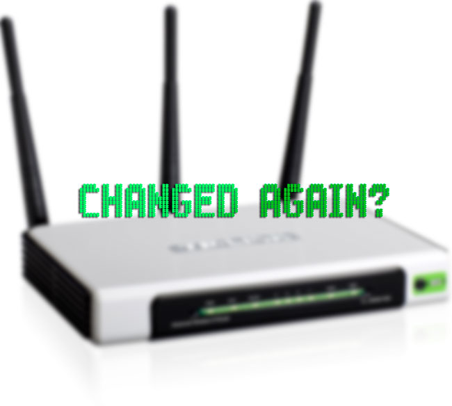 changed-again password wifi